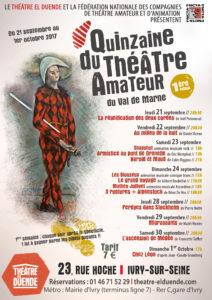 Festival du Théâtre amateur au Théâtre El Duende @ Théâtre El Duende | Ivry-sur-Seine | Île-de-France | France